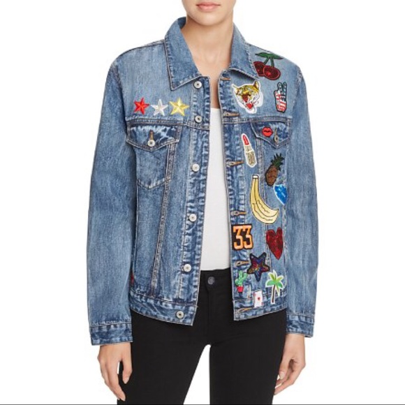 538a01a7fa679 Sunset & Spring Jackets & Coats | Sunset Spring Patched Denim Jacket ...
